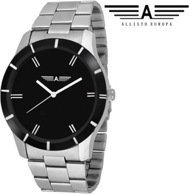 Allisto Europa AE07 Ultimate Black Analog Watch  - For Men, Boys