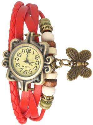 Ely Crazy Butterfly 007 Vintage Butterfly Analog Watch  - For Girls, Women
