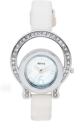 Adine AD-1238WHT Analog Watch  - For Girls, Women