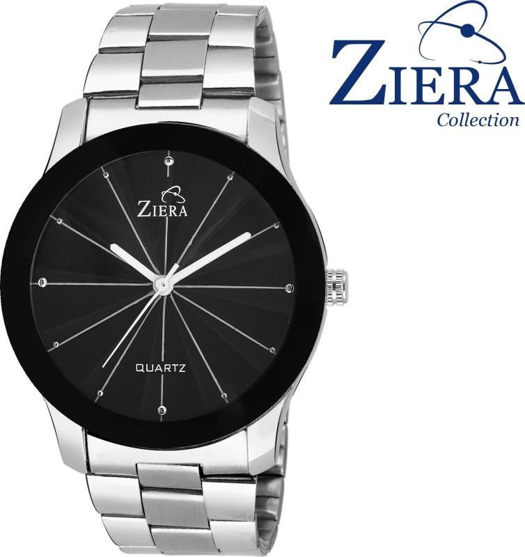 Ziera ZR7007 3D Glass Black Titanium Analog Watch For Men