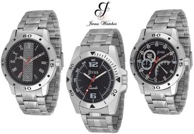 Jivaa JV-6534 Silver Imported Triplet Endeavor Analog Watch  - For Men, Boys