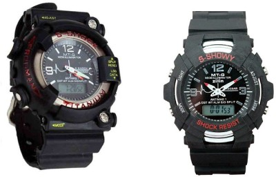 VITREND Frogman and Showy Combo Set of 2 Analog-Digital Watch  - For Boys, Men, Couple
