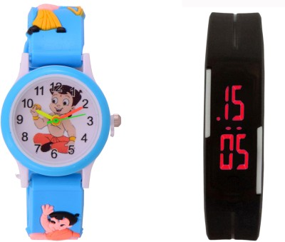 S S TRADERS SW001 Analog-Digital Watch  - For Boys