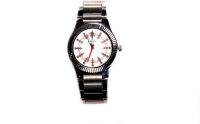 Adine Ad-5005 Silver-White Analog Watch  - For Men