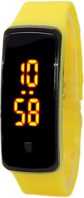 KMS Unisex Glass Led_Bravo_Yellow_Digital Digital Watch  - For Men, Women, Boys, Girls