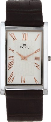 Nova FG-SLIM-CPR-BRN-31 Rectangular Analog Watch  - For Men