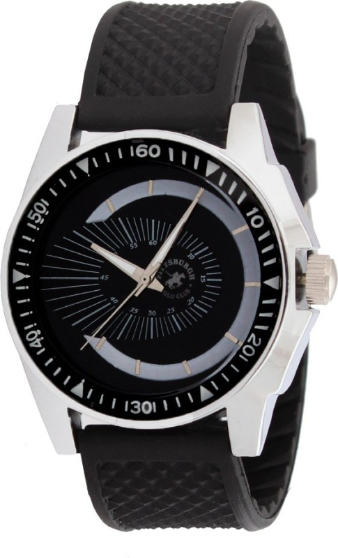 Pittsburgh Polo Club PBPC 393 BLK Analog Watch For Men