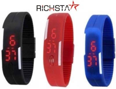 Richstar LED Band03PC3CLR Digital Watch  - For Boys, Couple, Girls, Men, Women