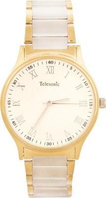 Telesonic DCS-07WHITE Shubham Series Analog Watch  - For Men