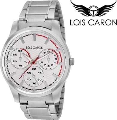 Lois Caron LCK-4053 WHITE CHRONOGRAPH PATTERN Analog Watch  - For Boys, Men