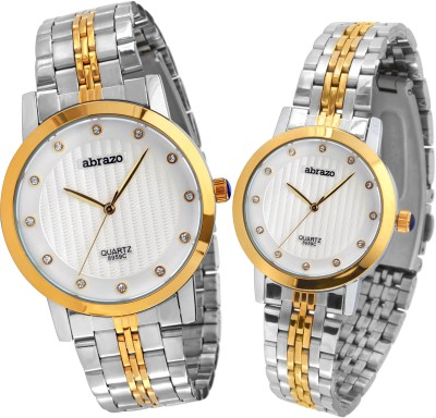 abrazo 8859c Combo Analog Watch  - For Couple