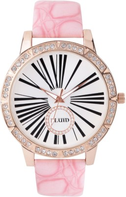 Fluid Pink Crystal Diamond Collection Analog Watch  - For Girls, Boys