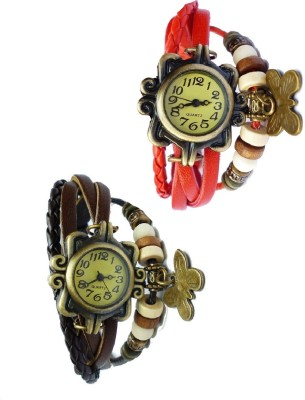 Adino Butterfly Vintage Analog Watch  - For Women