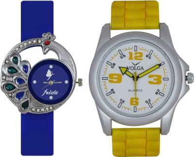 Frida Designer VOLGA Beautiful New Branded Type Watches Men and Women Combo41 VOLGA Band Analog Watch  - For Couple