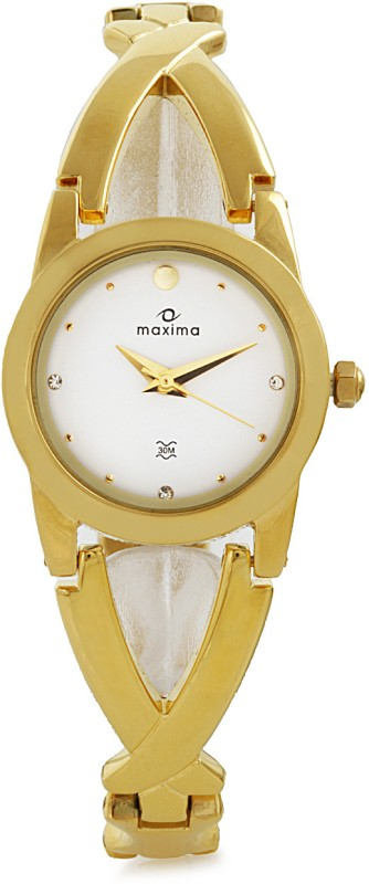 Maxima 28201BMLY Gold Analog Watch For Women