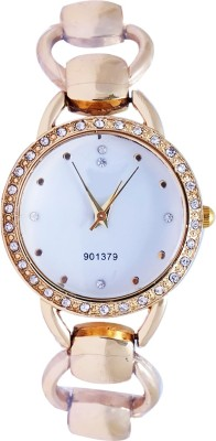 Super Drool ST2437_WT_GOLD Shiny Analog Watch  - For Girls