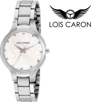 Lois Caron LCS-4516 WHITE HEART DIAL Analog Watch  - For Girls, Women