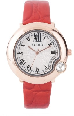 Fluid Fl403-Rd01crystal Diamond Collection Analog Watch  - For Girls, Women