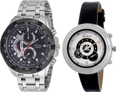 Gesture Elegant combo EG5 Elegant Analog Watch  - For Couple