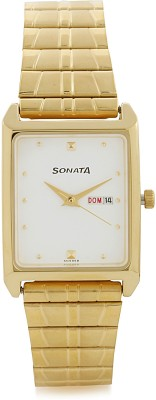 Sonata NF7007YM03A Analog Watch  - For Men