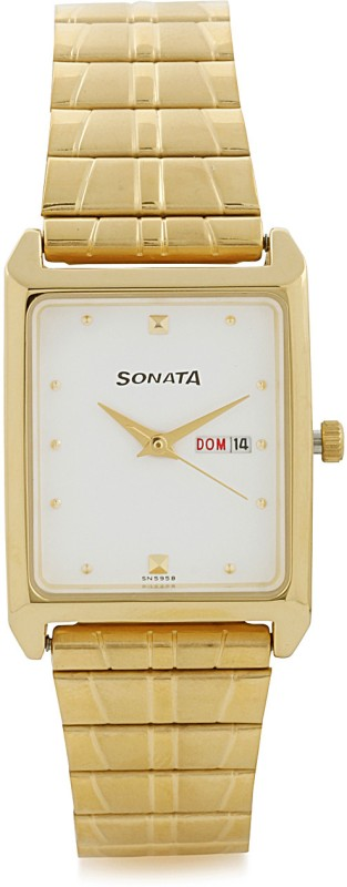 Sonata NF7007YM03 Analog Watch For Men