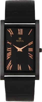 Nova FG-SLIM-CPR-BLK-32 Rectangular Analog Watch  - For Men