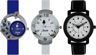 Frida Designer VOLGA Beautiful New Branded Type Watches Men and Women Combo528 VOLGA Band Analog Watch  - For Couple