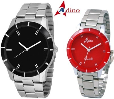 Adino AD8495 Classic Casino Fox Valentine Analog Watch  - For Couple