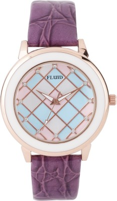 Fluid Multi Crystal Diamond Collection Analog Watch  - For Girls, Women