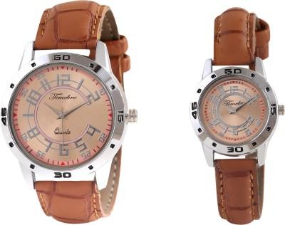 Timebre TCPLCOM77 Khaaki Analog Watch  - For Couple