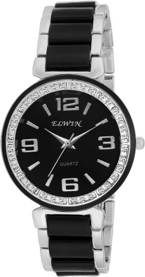 Elwin diamond black jewel Analog Watch  - For Women, Girls