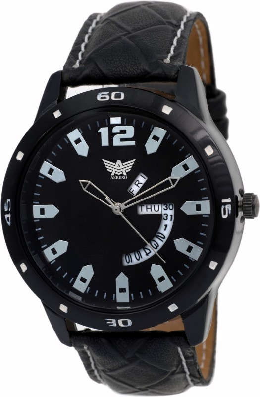 Abrexo Abx 1158 BK Day and Date Series Analog Watch For Men