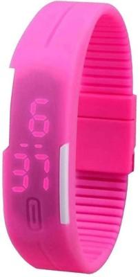 NS18 Led Band Single Pink Digital Watch  - For Boys, Couple, Girls, Men, Women