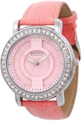 Exotica Fashions Ef-70-O-Pink-Dm Dm Series Analog Watch  - For Women