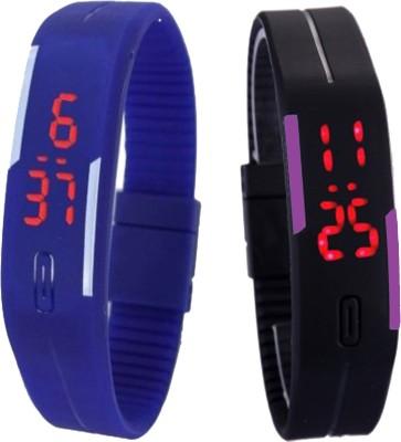 Oxter CMB-Bl-BkPr Modest Digital Watch  - For Boys
