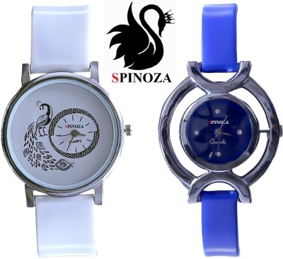 SPINOZA glory blue white peacock beautiful watches for girls pack of 2 watch Analog Watch  - For Women