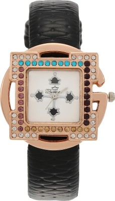 Florence FL-BLK-GLD-F-071 Analog Watch  - For Women