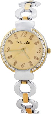 Telesonic Lct09-Gold Integrity Series Analog Watch  - For Women