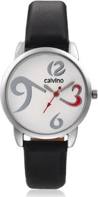 Calvino CLAS-1512-OPN-369_BLK-WHT Analog Watch  - For Women