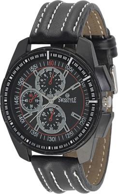Swisstyle SS-GR1406-BLK-BLK Flunky Analog Watch  - For Men