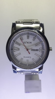 Elwin round D/D watch calender Analog Watch  - For Men