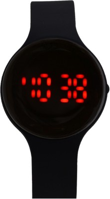 Pappi Boss Latest Round Silicone Jelly Slim Rubber Date & Time Led Band Digital Watch  - For Boys, Men, Girls, Women
