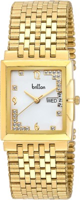 Britton Day and Date Display-BR-GSQ053-SLV-GLD Analog Watch  - For Men