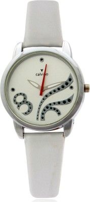 Calvino CLAS-1512 OPN-5_Wht Wht Scintillating Analog Watch  - For Women
