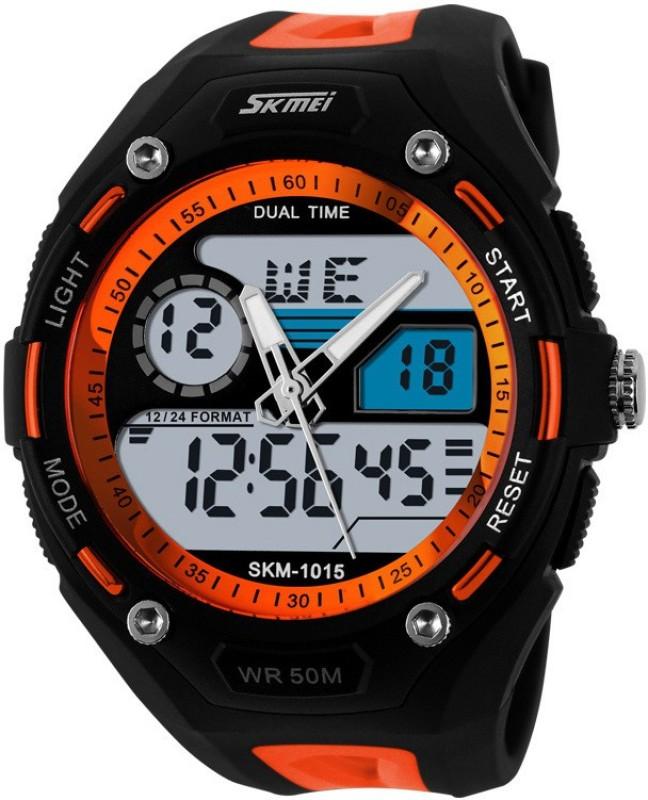 Skmei AJAD1015 OR Lcd Analog Digital Watch For Men