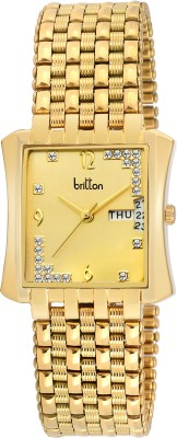 Britton Day and Date Display-BR-GSQ050-GLD-GLD Analog Watch  - For Men