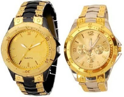 BYC RS-505 Golden Analog Watch  - For Couple