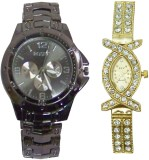ELY Ror_Blk_lad_Gold_own No Analog Watch...