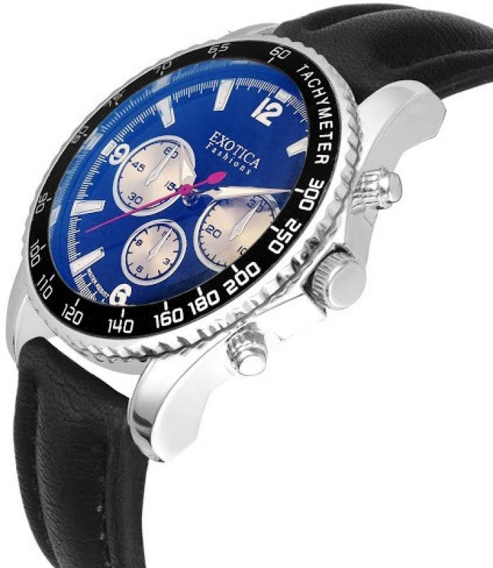 Exotica Fashions EFG 110 Black Blue NS New Series Analog Watch