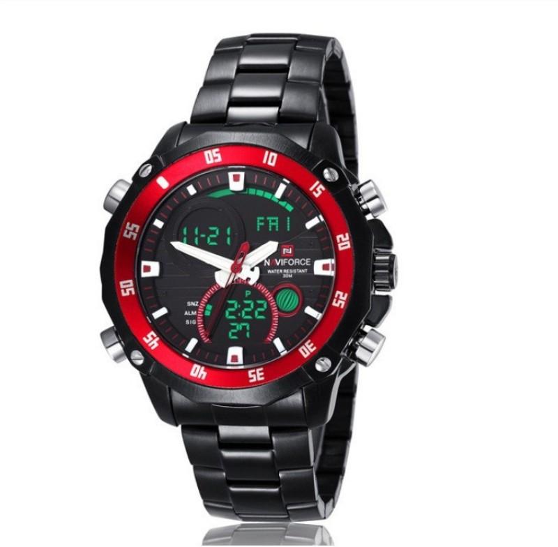 Naviforce NAV9030BBR Sports Analog Digital Watch For Men